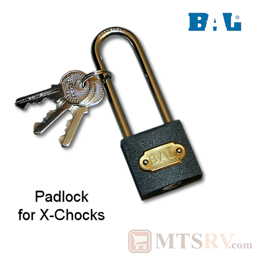 BAL Padlock for Deluxe & X-Chock Locking Wheel Stabilizing Tire Chocks - Model 28015