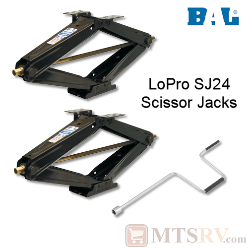 BAL LoPro SJ24 5000 lb. RV Leveling Stabilizer Scissor Jack - 2-PACK - Model 24028 - USA Made