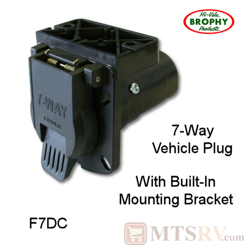 brophy 7 way wiring diagram cr brophy 7-way vehicle plug w/built-in mounting bracket ...