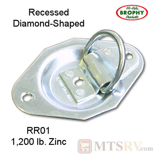 Brophy RR05 5K Zinc-Plated Recessed Tie-Down