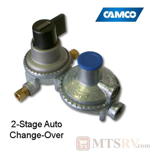 Camco 2-Stage Auto-Changeover LP Regulator