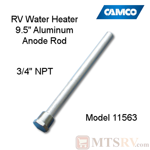 Camco Rv 9 5 Aluminum Anode Rod 3 4 Ntp Model 11563 For Morflo Suburban Steel Water
