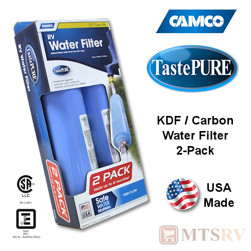 Camco Rv Tastpure Inline Water Filter Double Pack