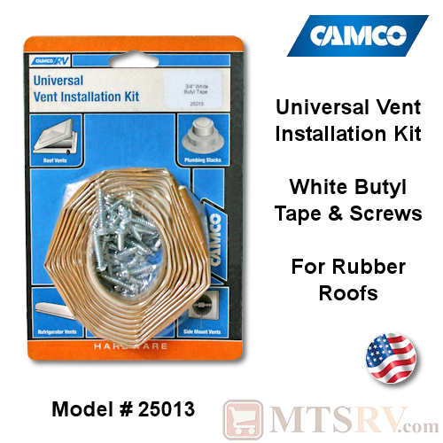 New Universal Vent Installation Kit camco 25013 Butyl Tape Kit