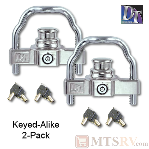 DT Universal Coupler Lock - Keyed-Alike 2-Pack