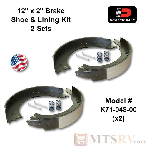 Dexter Axle 12 Quot X 2 Quot Brake Shoe And Lining Kit 2 Sets