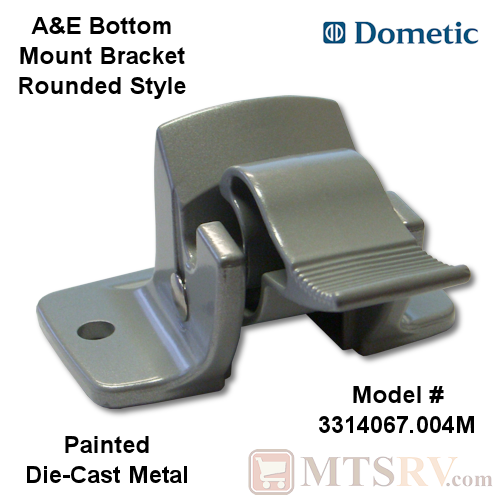 Dometic A&E Bottom Mount Bracket - Round Style - For Sunchaser Models - Painted Die-Cast Metal