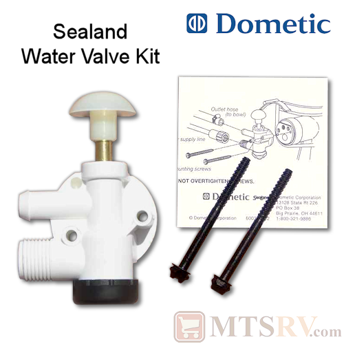 Dometic Sealand Replacement Toilet Water Ball Valve Assembly Kit - Model 385314349