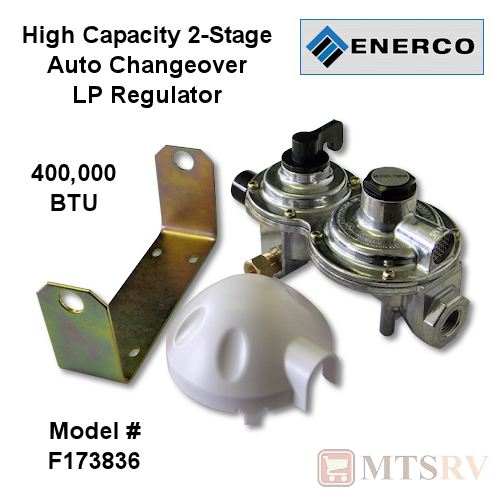 Enerco High BTU Capacity 2-Stage Auto-Change Regulator