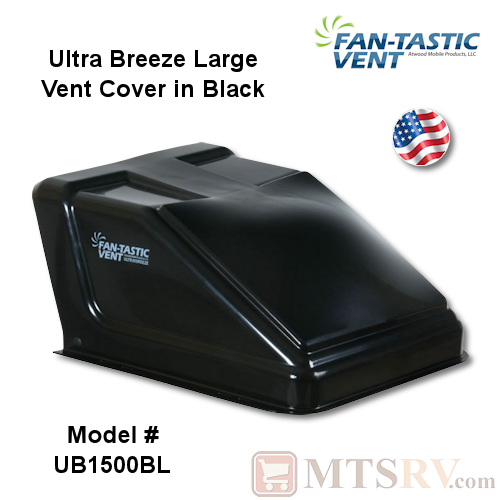 "Fan-Tastic Vent Ultra Breeze Vent Cover - BLACK - made for use with most 14x14"" Vents - USA Made"
