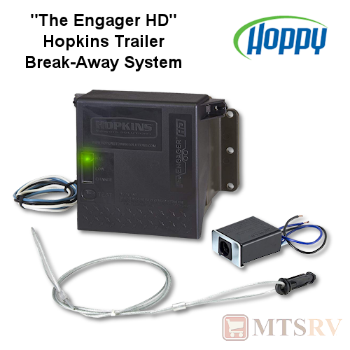 Hoppy 'The Engager HD' Breakaway Kit with Charger - For use with Trailer Electric Brakes