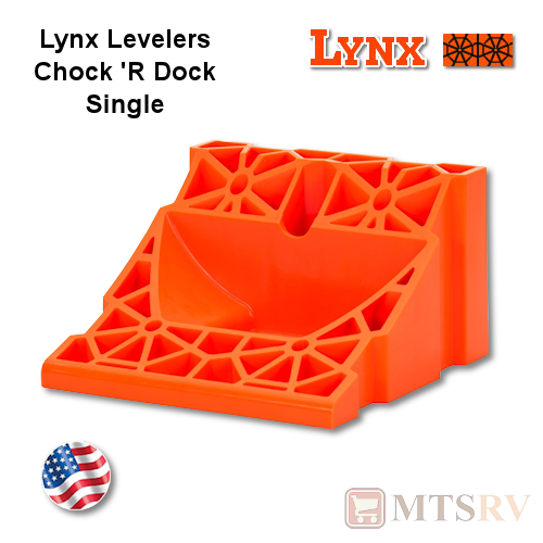 Lynx Levelers Orange Chock 'R Dock - Wheel Chock with Built-In Dock
