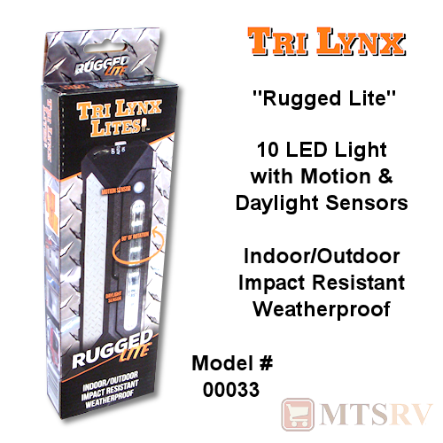 "Lynx ""Rugged Lite"" 10-LED Light w/Motion & Daylight Sensors - Black"