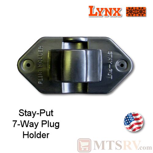 Lynx Levelers Stay-Put 7-Way Plug Holder with Mounting Screws - Model 8200B - USA Made