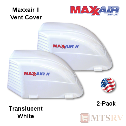 "Maxxair II Large Vent Cover -  White - 2-PACK - Translucent made for covering most 14x14"" Vents"