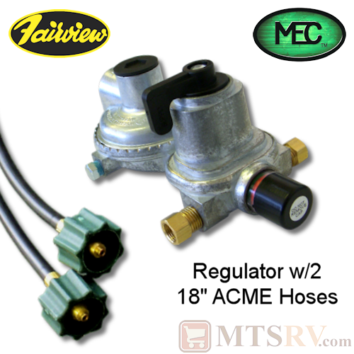 MEC 2-Stage Auto LP Regulator w/2 Hoses