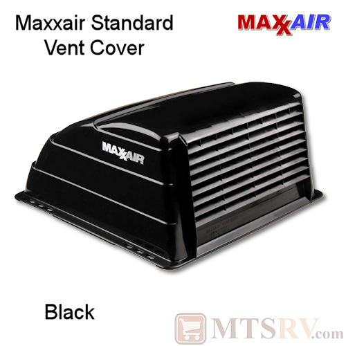"Maxxair Standard Large Vent Cover -  Black - SINGLE - made for covering most 14x14"" Vents"