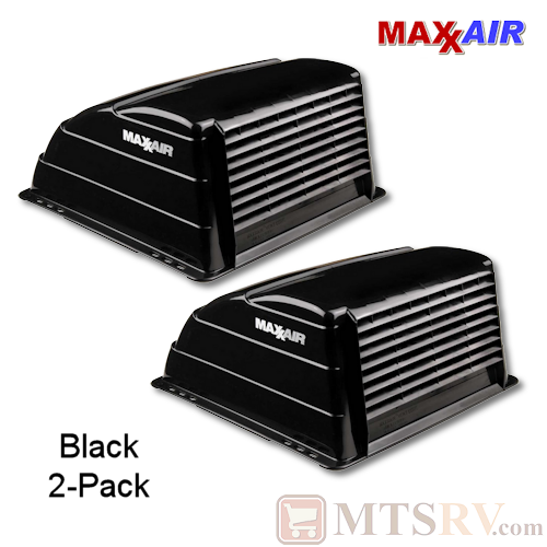 "Maxxair Standard Large Vent Cover -  Black - 2-PACK - made for covering most 14x14"" Vents"