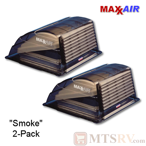 "Maxxair Standard Large Vent Cover -  Smoke / Lexan - 2-PACK - made for covering most 14x14"" Vents"