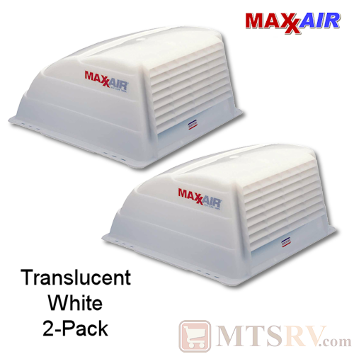 "Maxxair Standard Large Vent Cover -  Translucent White - 2-PACK - made for covering most 14x14"" Vents"