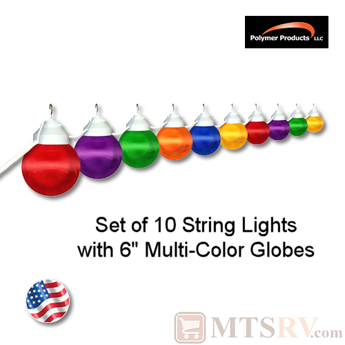Polymer Products Multi-Color Globe Light 10PK