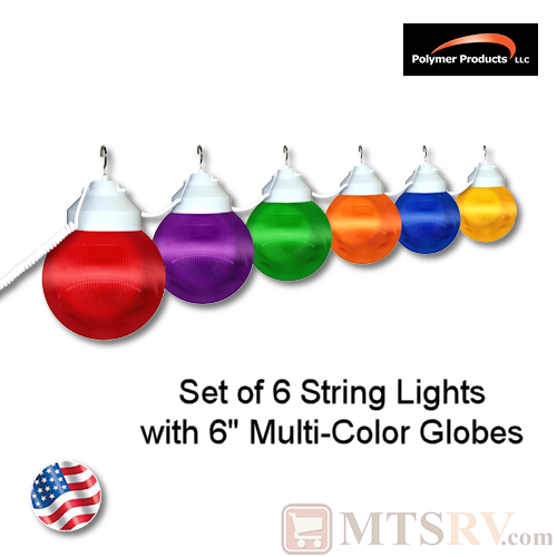 Polymer Products Multi-Color Globe Light 6PK