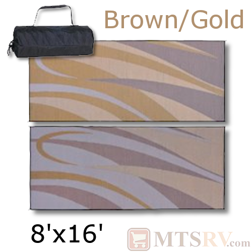 Patio Mat 8x16 - Brown/Gold