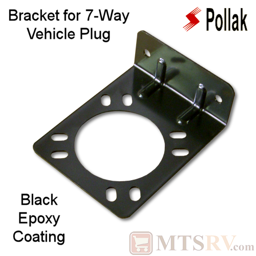 Pollak Epoxy Coated Black Metal Mounting Bracket For 7