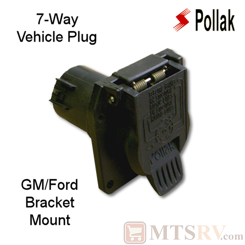 Pollak 7-Way Vehicle Plug for GM/Ford OEM - BUILT-IN BRACKET MOUNT - Model 11-893