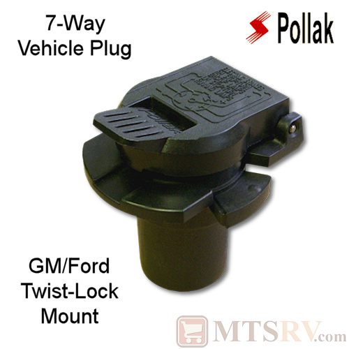 Pollak 7-Way Vehicle Plug for GM/Ford OEM - TWIST-LOCK MOUNT - Model 11-916