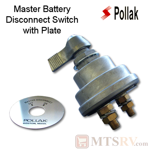 Pollak LEVER Master Battery Disconnect Switch with Face Plate