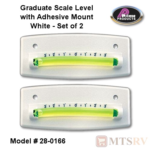 Prime Products Graduated Scale Level in White - Set of 2