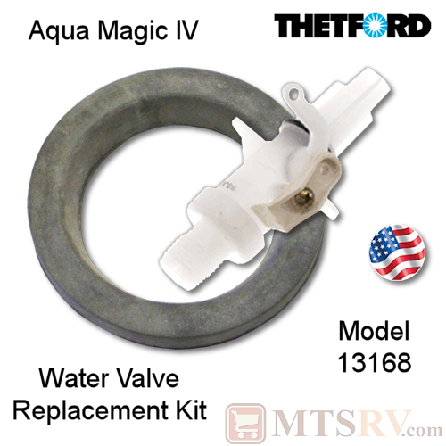 Thetford Replacement Water Valve Kit for Aqua Magic IV (4) Portable Toilets - Model 13168 - USA Made