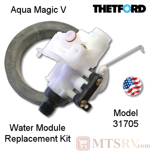 Thetford Replacement Water Valve Kit for Aqua Magic V (5) Portable Toilets - Model 31705 - USA Made