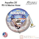 "Apex Aquaflex 25' x 1/2"" RV & Marine Reinforced Water/Garden Hose - USA Made"