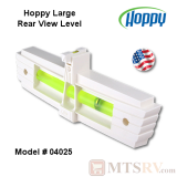Hopkins Hoppy Large Rear View Mirror Trailer Level in White