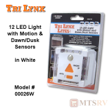 "Lynx ""Lite"" 12-LED Light w/Motion & Dusk Sensors in WHITE"
