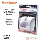 "Lynx ""Lite"" 3-LED Light w/Motion Sensor in WHITE"