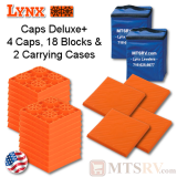 Lynx Levelers Leveling Cap & Block Deluxe PLUS Package - 4 Caps, 18 Blocks & 2 Cases - USA Made