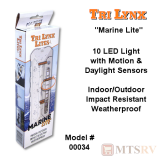 "Lynx ""Marine Lite"" 10-LED Light w/Motion & Daylight Sensors - White"