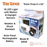 "Lynx ""Solar Drop In Lite"" 18-LED Light w/Motion & Daylight Sensors"