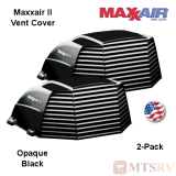 "Maxxair II Large Vent Cover -  Black - 2-PACK - made for covering most 14x14"" Vents"
