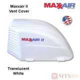 "Maxxair II Large Vent Cover -  White Translucent - made for covering most 14x14"" Vents"