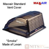 "Maxxair Standard Large Vent Cover -  Smoke / Lexan - SINGLE - made for covering most 14x14"" Vents"