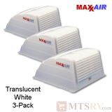"Maxxair Standard Large Vent Cover -  Translucent White - 3-PACK - made for covering most 14x14"" Vents"
