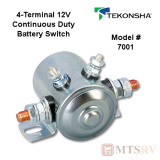 Tekonsha 4-Terminal Insulated Battery Switch - 12V Continuous Duty - Model #7001