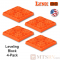 Lynx Levelers Orange RV & Trailer Leveling Blocks - 4 Block Pack - USA Made